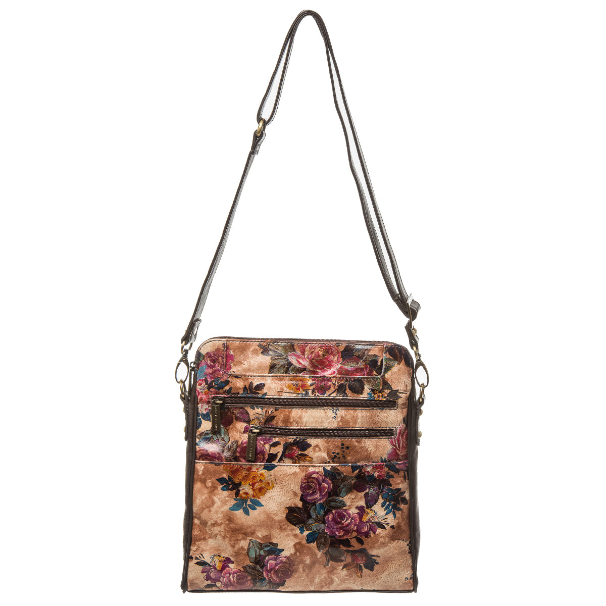 E.S. black and floral beige